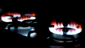 Kitchen stoves stock video footage