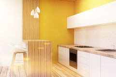 Kitchen in a studio apartment, toned Royalty Free Stock Photography