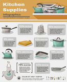 Kitchen Stuff Infographic Set Stock Photo