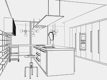 kitchen style toon Στοκ φωτογραφία με δικαίωμα ελεύθερης χρήσης