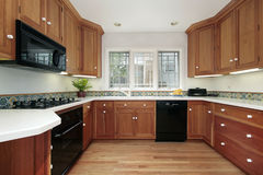 Kitchen in suburban home Royalty Free Stock Photos