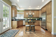 Kitchen in suburban home Stock Image
