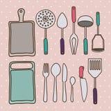 Kitchen supplies Royalty Free Stock Photo