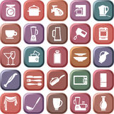 Kitchen symbols. Buttons with the image of kitchen symbols Royalty Free Stock Photography