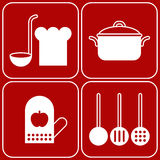 Kitchen symbols Royalty Free Stock Photo
