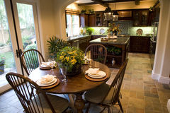 Kitchen and table 1854 Stock Photos