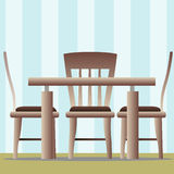 Kitchen table and chair Royalty Free Stock Image