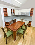 Kitchen with table and chairs Royalty Free Stock Photos