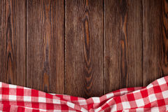 Kitchen table with red towel Royalty Free Stock Image