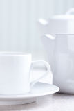 Kitchen table, tea, cup Royalty Free Stock Photos