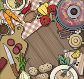 Kitchen table top viewed from the top Stock Photo