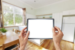Kitchen Tablet Design Technology Stock Photo