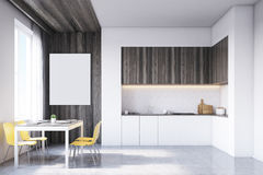 Kitchen with tabletop and table Stock Images