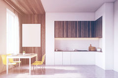 Kitchen with tabletop and table, toned Royalty Free Stock Image