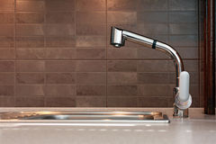 Kitchen tap. As one of kitchen detail royalty free stock photography