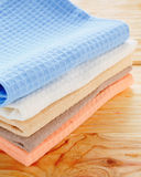 Kitchen textiles on the table Stock Photo
