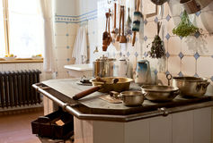 Kitchen of 19th century Stock Images