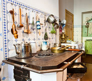 Kitchen of 19th century Royalty Free Stock Images