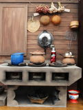 Kitchen in Thailand traditional Royalty Free Stock Photo