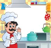 Kitchen theme frame 1 vector illustration