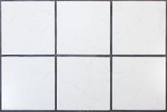 Kitchen tiles. Six white kitchen tiles with dark joints Royalty Free Stock Photos