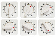 Kitchen timer 0 to 25 minutes Stock Photos
