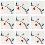 Kitchen timer closeup 1 to 9 minutes Stock Photography