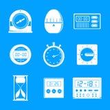 Kitchen timer icons set, simple style stock illustration