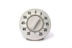 Kitchen timer isolated. On white Stock Image