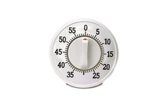 Kitchen timer isolated Stock Photography