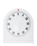 Kitchen timer isolated on white Stock Photos