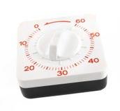 Kitchen timer isolated on white Stock Image