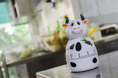 Kitchen timer looks like a cow Royalty Free Stock Photography