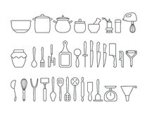 Kitchen tool collection Royalty Free Stock Photos