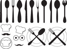 Kitchen tool collection Royalty Free Stock Images