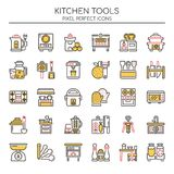 Kitchen Tools , Thin Line and Pixel Perfect Icons Royalty Free Stock Image