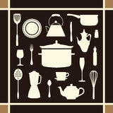 Kitchen tool icons set great for any use. Vector EPS10. Stock Images