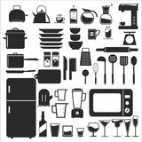 Kitchen tool. Kitchen vector icon set Royalty Free Stock Photography