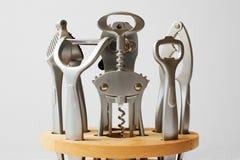 Kitchen tool set. Set of kitchen stainless steel utensils Royalty Free Stock Photo