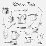 Kitchen tool set Royalty Free Stock Photography
