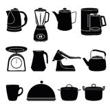 Kitchen tool silhouette collection Stock Photo
