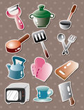 Kitchen tool stickers Royalty Free Stock Photography