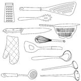 Kitchen tools stock illustration