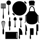 Kitchen tools. All tools that can found in your kitchen Stock Images