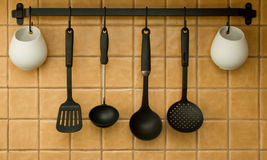 Kitchen tools. On a wall Stock Images