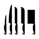 Kitchen tools. Abstract kitchen tools silhouettes on a white background Royalty Free Stock Image
