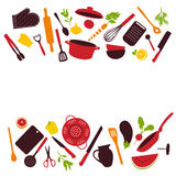 Kitchen tools background. Vector illustration Stock Image