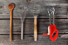 Kitchen tools. Baking, cooking and cutting - kitchen tools Stock Photography
