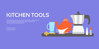 Kitchen tools collection Royalty Free Stock Photo