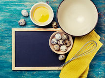 Kitchen tools for cooking quail eggs Stock Image